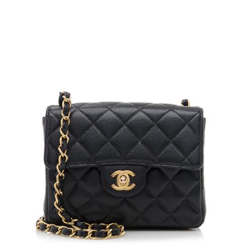 82f14696bbf3c8 Chanel Caviar Leather Classic Square Mini Flap Bag | Chanel Handbags ...