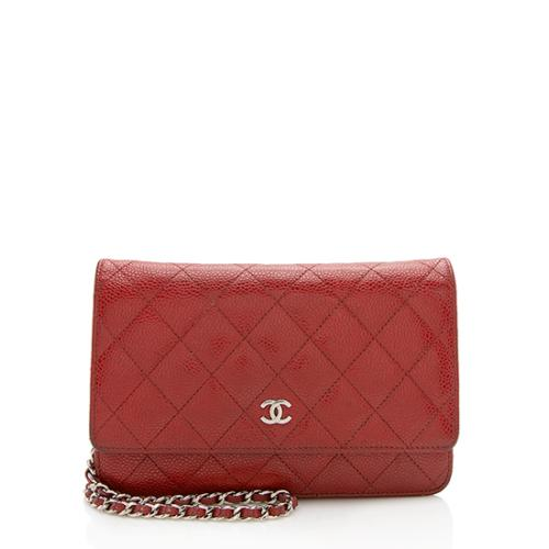 Chanel Caviar Leather Classic Wallet On Chain Bag