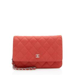 Chanel Caviar Leather Classic Wallet On Chain