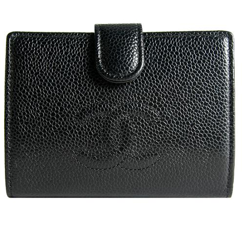 Chanel Caviar Leather French Purse Wallet