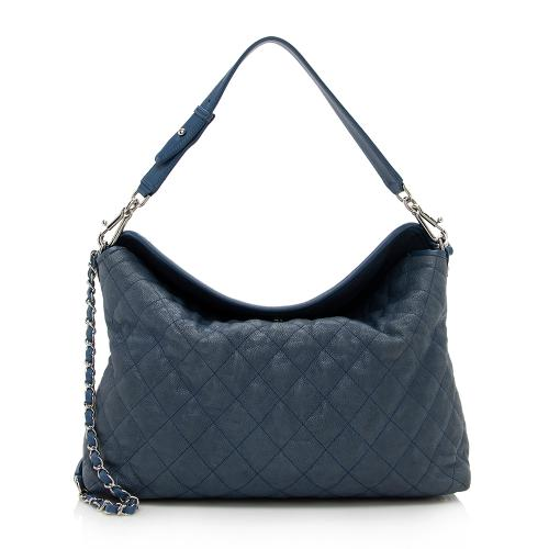 Chanel Caviar Leather French Riviera Hobo