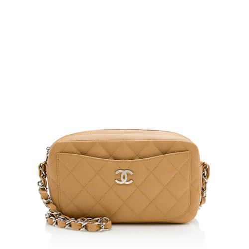 Chanel Caviar Leather Front Pocket Camera Bag
