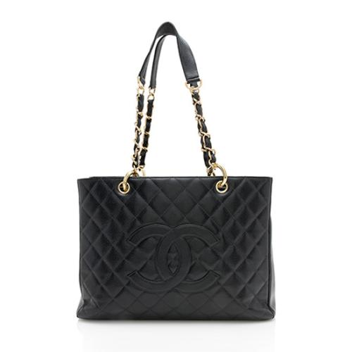 bab318f25e0e0 Chanel Caviar Leather Grand Shopping Tote