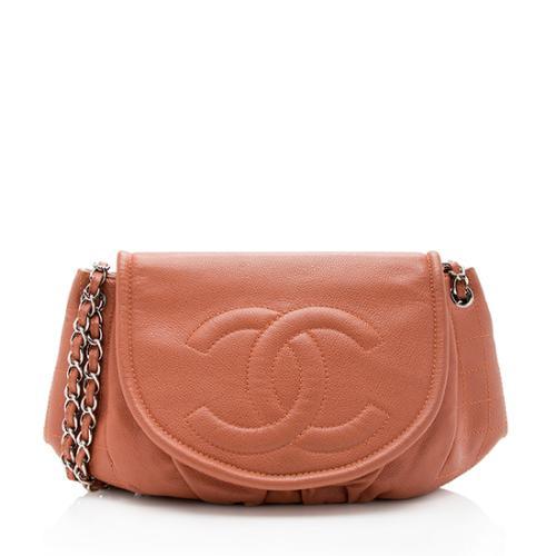 Chanel Caviar Leather Half Moon Shoulder Bag