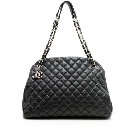 Chanel Caviar Leather Just Mademoiselle Large Bowler Bag