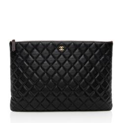 Chanel Caviar Leather Large O-Case