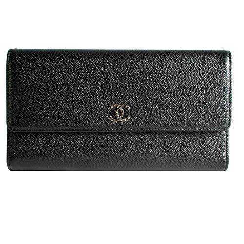 Chanel Caviar Leather Long Wallet