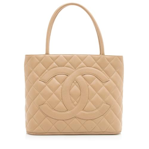 aa506dcf9277 Chanel Caviar Leather Medallion Tote