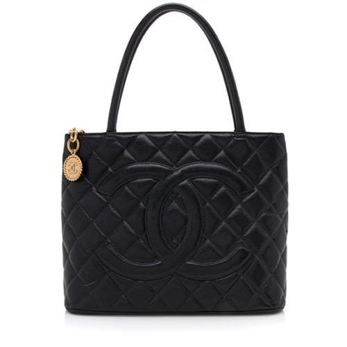 Chanel Caviar Leather Medallion Tote