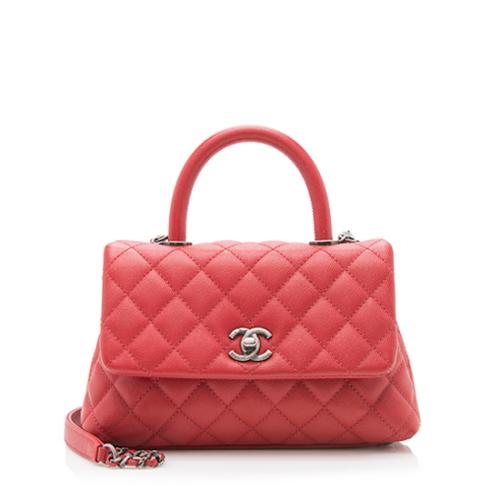 Chanel Caviar Leather Mini Coco Handle Flap Bag