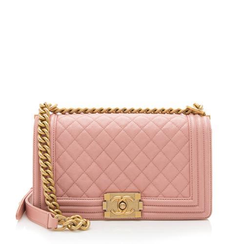 Chanel Caviar Leather Old Medium Boy Bag