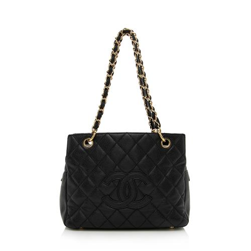 Chanel Caviar Leather Petite Timeless Tote