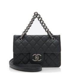 Chanel Caviar Leather Retro Class Small Flap Bag