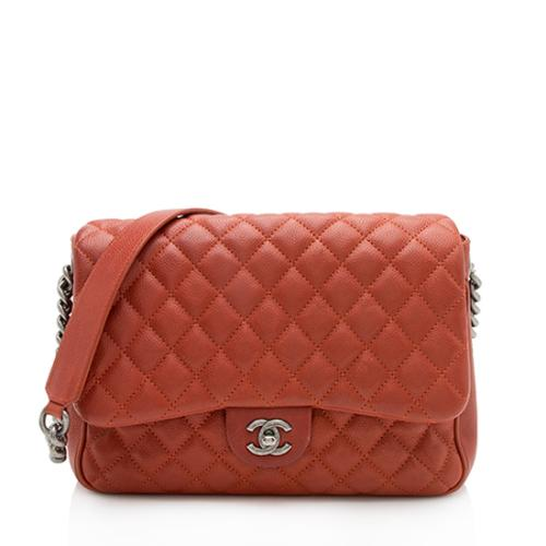 Chanel Caviar Leather Rock In Rome Flap Bag