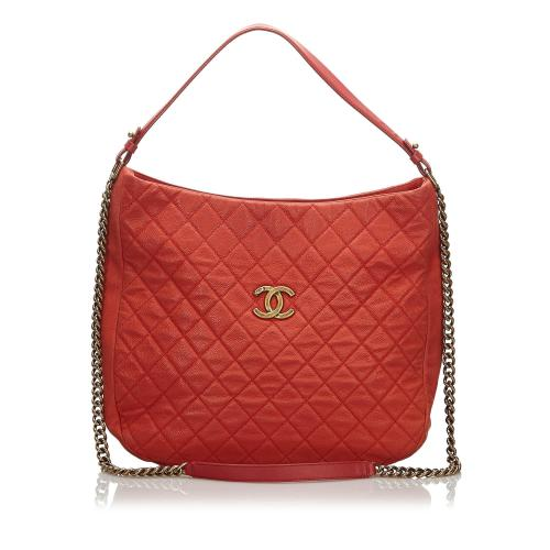 Chanel Caviar Leather Hobo