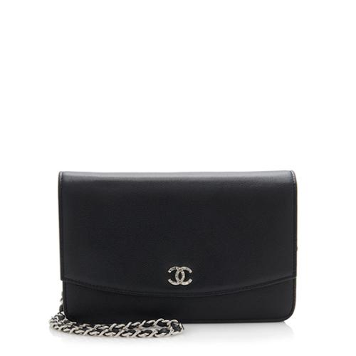 Chanel Caviar Leather Sevruga Wallet on Chain Bag