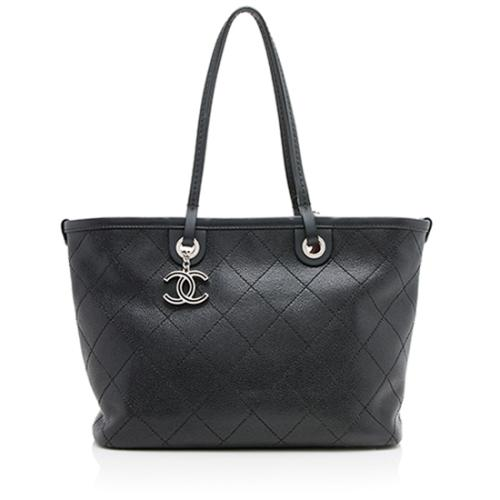 Chanel Caviar Leather Shopping Fever Small Tote