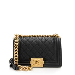 Chanel Caviar Leather Small Boy Bag