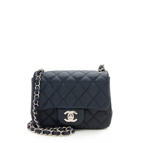 Chanel Caviar Leather Square Mini Flap Bag