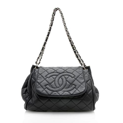 3e99795ce1 Chanel Caviar Leather Timeless Accordion Flap Bag