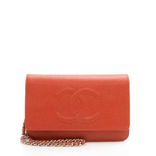 80c5c1029e6b Chanel Caviar Leather Timeless CC Wallet On Chain Bag