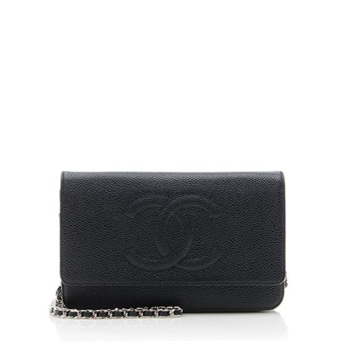 Chanel Caviar Leather Timeless CC Wallet on Chain Bag
