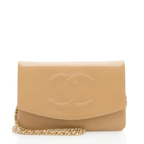 Chanel Caviar Leather Timeless Envelope Wallet On Chain Bag