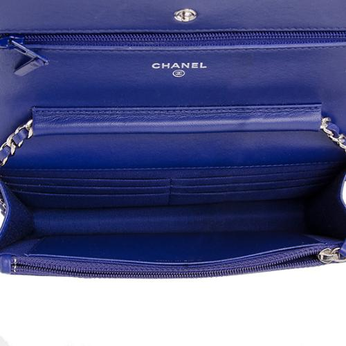 Chanel Lambskin Classic Quilted Wallet on Chain Bag