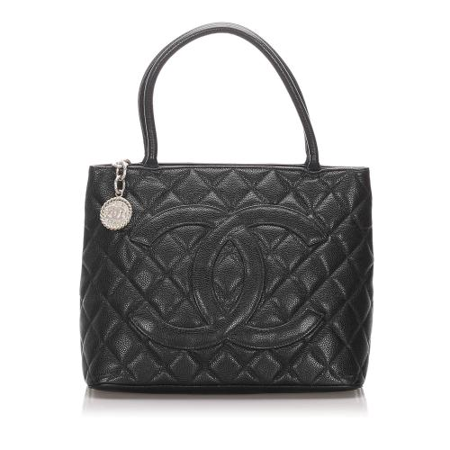 Chanel Caviar Leather Medallion Tote