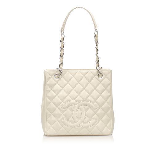 Chanel Caviar Petite Shopping Tote Bag