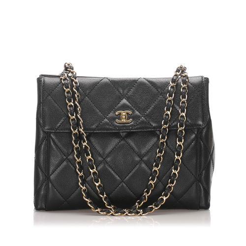 Chanel Caviar Leather CC Tote