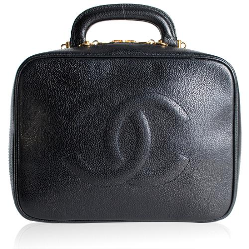 Chanel Cavier Leather Cosmetic Bag