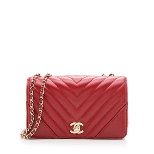Chanel Chevron Calfskin Statement Mini Flap Bag