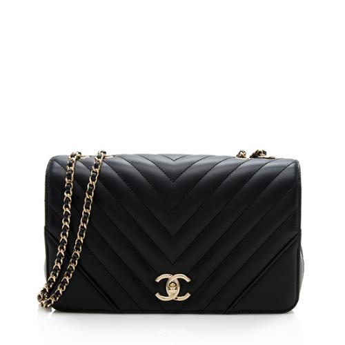 Chanel Chevron Calfskin Statement Small Flap Bag