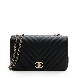 Chanel Chevron Calfskin Statement Small Flap Bag
