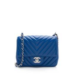 Chanel Chevron Caviar Leather Square Mini Flap Bag