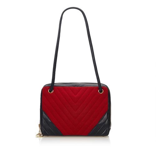 Chanel Chevron Chemical Fiber Shoulder Bag