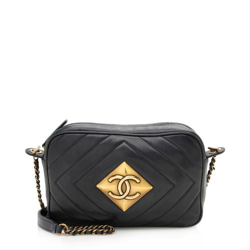 Chanel Chevron Lambskin Pyramid CC Camera Bag - FINAL SALE