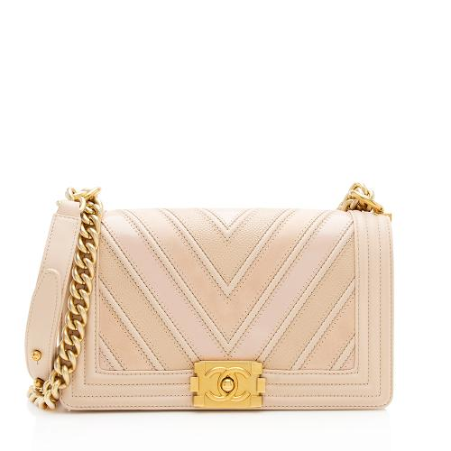 Chanel Chevron Medium Boy Bag