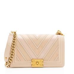 Chanel Chevron Medium Boy Bag