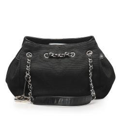 Chanel Chevron Nylon Shoulder Bag