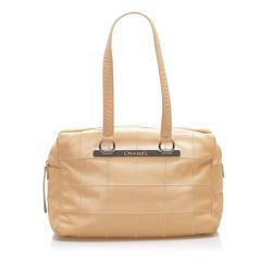 Chanel Choco Bar Caviar Leather Shoulder Bag