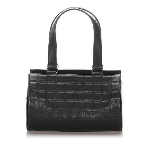 Chanel Chocolate Bar Leather Boston Bag