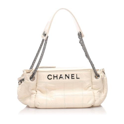Chanel Leather Chocolate Bar Shoulder Bag