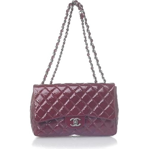 Chanel Classic 2.55 Quilted Burgundy Evening Handbag - FINAL SALE
