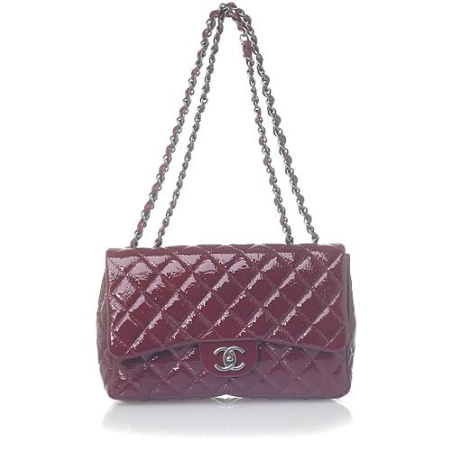 Chanel Classic 2.55 Quilted Burgundy Evening Handbag