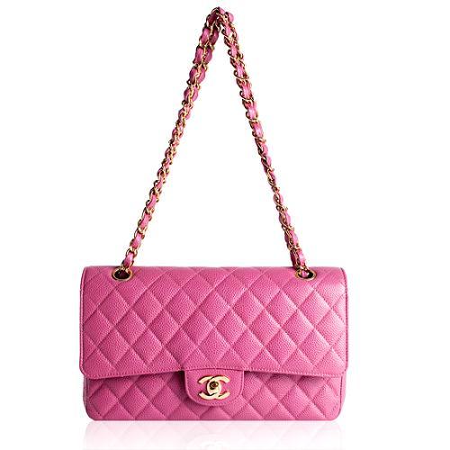 Chanel Classic 2.55 Quilted Caviar Leather Medium Flap Handbag