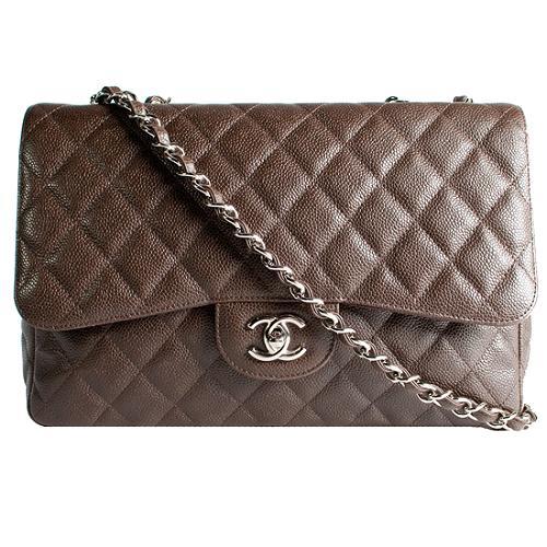 Chanel Classic 2.55 Quilted Jumbo Flap Shoulder Handbag