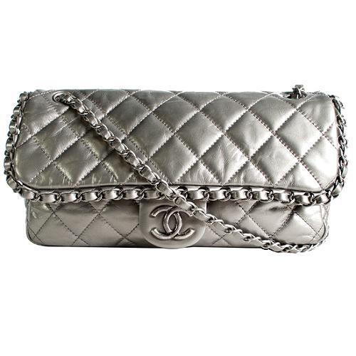 Chanel Classic 2.55 Quilted Lambskin Leather Medium Flap Handbag