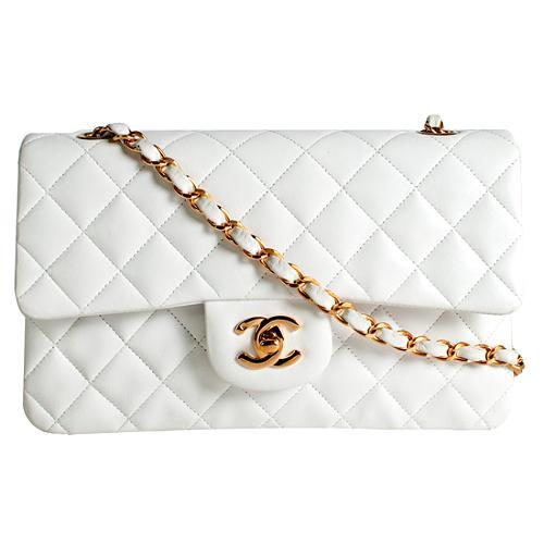 Chanel Classic 2.55 Quilted Lambskin Medium Flap Shoulder Handbag